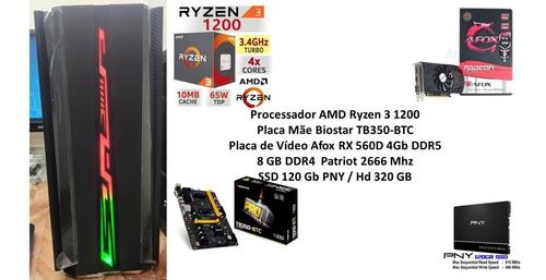Pc Gamer Amd Ryzen 3 1200 8gb Rx 560d 4gb.
