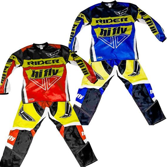 Conjunto Motocross Niños Cross Bmx Kid Talles 8 10 12 14 Fas