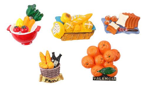 Imagen 1 de 8 de 5 Unids Simulación Alimentos Nevera Imanes 3d Pegatinas Refr