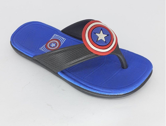 Chinelo Infantil Baby Kids Escudo Cap America