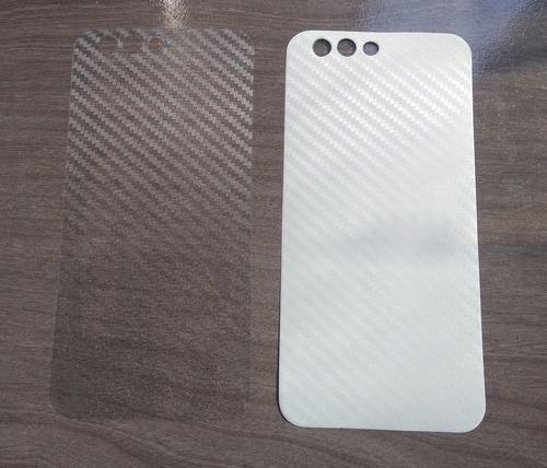 Imagem 1 de 3 de 4 Peliculas Trazeira Skin Fibra Carbono Zenfone 4 Ze554kl