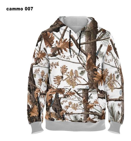 Blusa Unissex De Frio Moletom Camuflagem 3d Realista