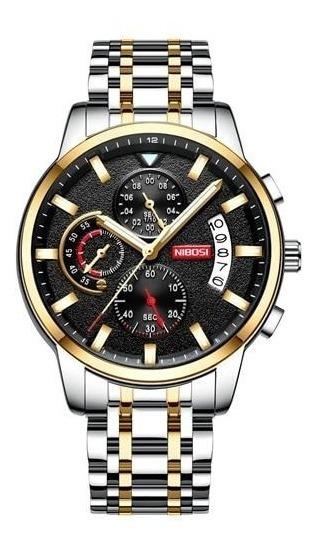 Relógio Nibosi 2358 Aço Inox Super Luxuoso Barato Promoção