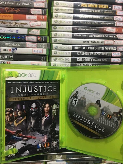 Injustice Gods Among Us Ultimate Edition Xbox 360 Usado Orig