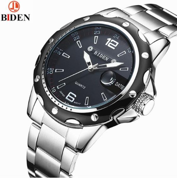 Relógio Biden 4808 Black, Inox À Prova D
