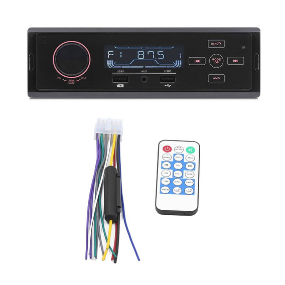 12 V Fácil Instalar Bluetooth U Disco Rádio Fm Mp3 Player
