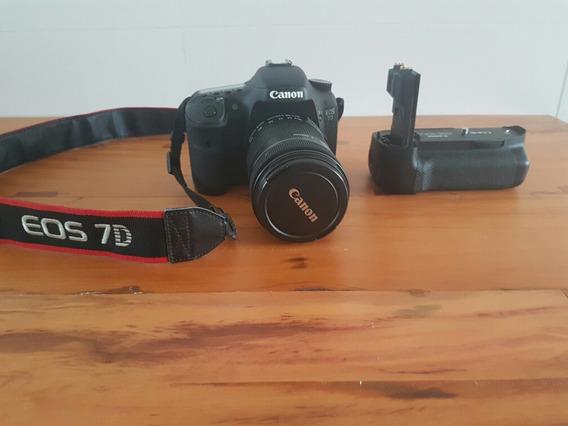 Canon Eos7d + Lente Efs 18-135 Usm + Vgrip + 2bat+ Carreg