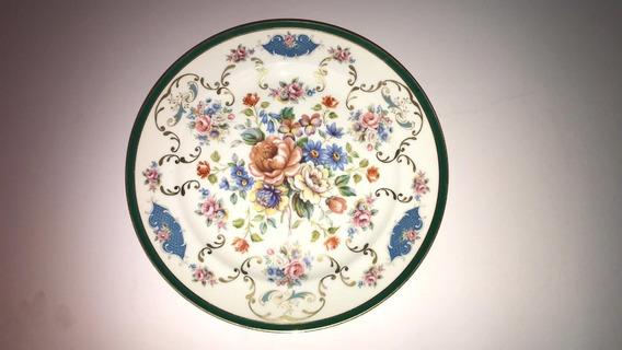 Floreado Plato Antiguo De Porcelana Limoges Frank Haviland