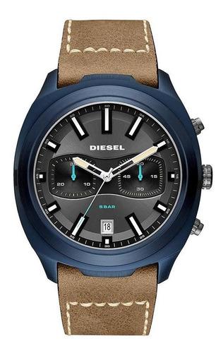 Relógio Diesel Masculino Brave Blue Azul Dz4490/0mn