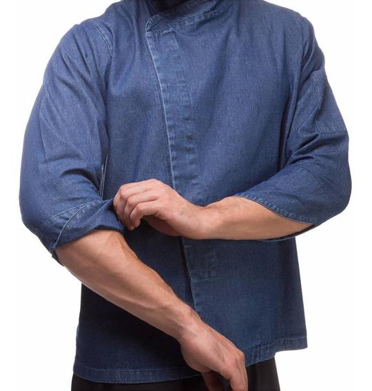 Jaqueta Jeans Gastronomia Dolma 100% Algodão Personalizada