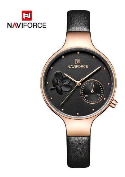 Relógio Feminino Naviforce Preto