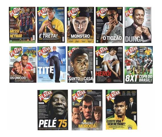 Esportes Futebol Lote Com 13 Revistas Placar