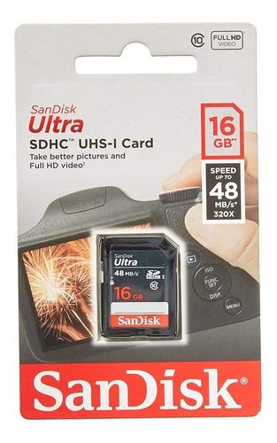 10 Tarjetas De Memoria 16 Gb Sandisk Utra Sdhc Uhs-i Card