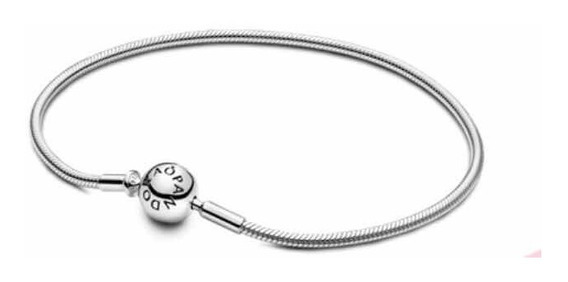 Bracelete Pandora Prata Com Trava Segurança Original