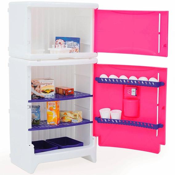 Refrigerador Duplex De Brinquedo Casinha Flor 4821 Xalingo