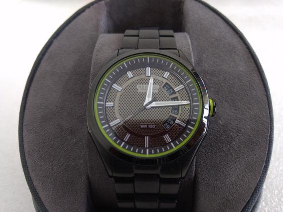 Reloj Citizen Eco Drive. Negro. Con Certificado Y Estuche.