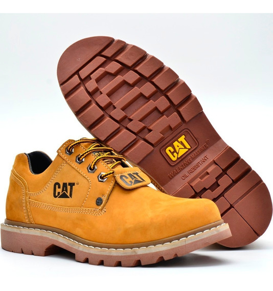 Tenis Sapato Masculino Couro Pronta Entrega Caterpillar