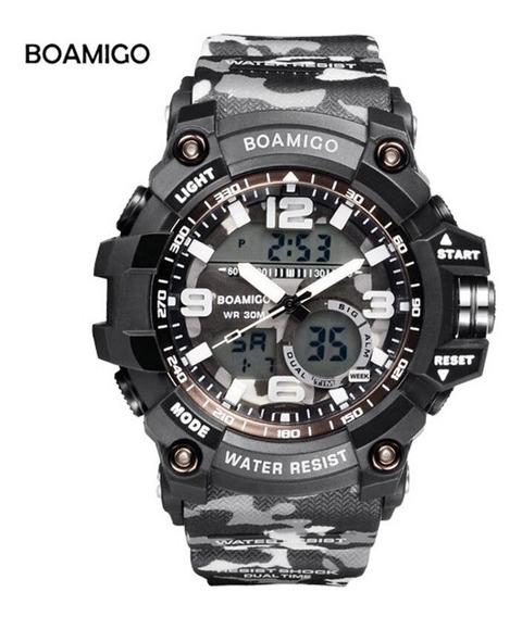 Relógio Boamigo F5111 Camuflado Digital Analógico Promoção