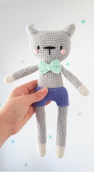 Muñeco De Apego - Gato / Gatito A Crochet - Amigurumi