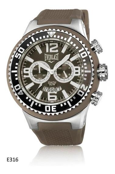 Relógio Pulso Everlast Masculino Vermelho Cronografo E315
