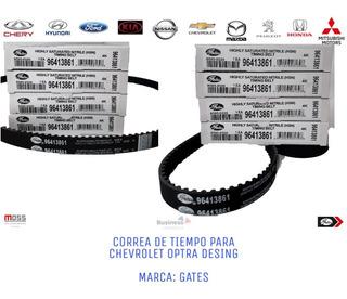 Correa De Tiempo Chevrolet Optra Desing Tapa Amarilla Gates