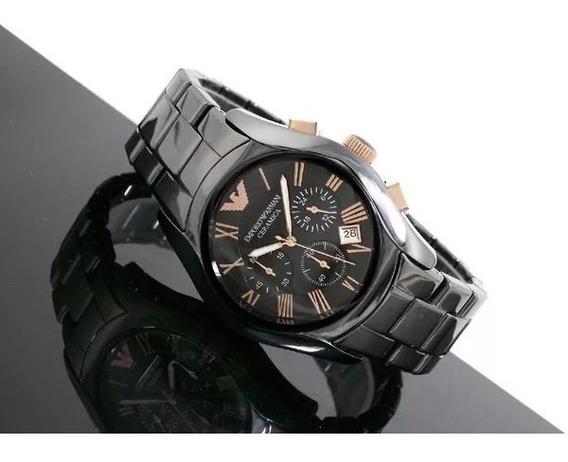 Relógio Oz1933 Emporio Armani Ar1410 Cerâmica Preto / Caixa