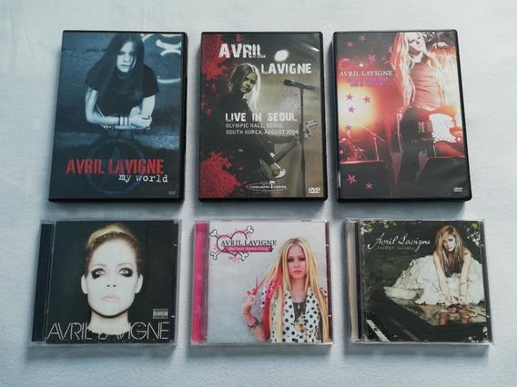 Lote, Kit Cds Dvds Avril Lavigne + Posters Antigos - Usados