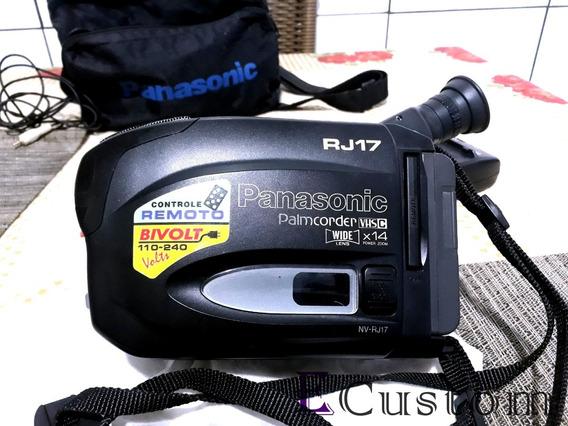 Filmadora Panasonic Palmcorder Wide Lens 14x Zoom - Excelen