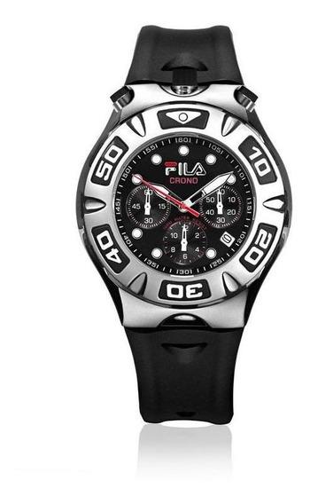 Relógio Fila Masculino Cronógrafo Pulseira Silicone Fl316-01