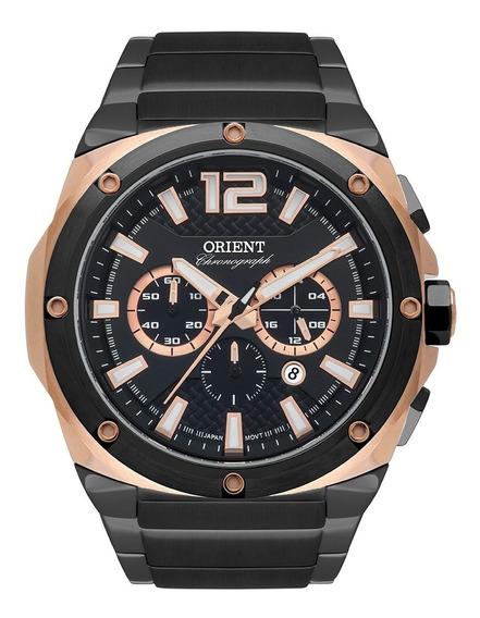 Relógio Orient Masculino Rosê Preto Mtssc022 P2px