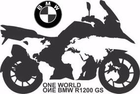 Bmw R1200 Gs Gigante 1 Mtr Mapa Mundo Adesivo Parede Moto L
