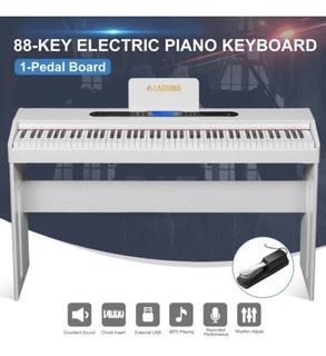Blanco Clásico 88 Clave Música Eléctrica Piano Digital De