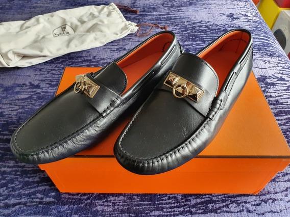 Zapatos Hermes Negros 27 Mexicano 41 Europeo