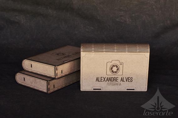 Caixa Para Pendrive Pencard Dvd E Fotos Estojo Fotográfico