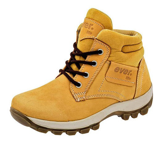 Everest Bota Senderismo Dama Amarillo Piel Baja B28409 Udt