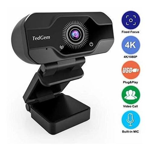 Cámara Web Webcam Hd Pro 8mp 4k 1080p Full Hd Usb