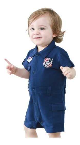 Roupa Infantil Menino Azul Marinho Militar Farda Aniversário