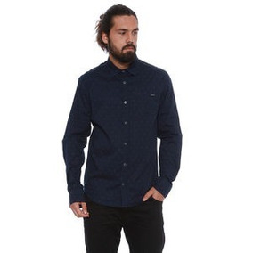 Camisa Opera Rock Estampada. Azul Marinho & Cinza