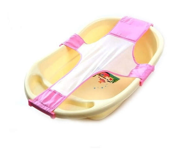 Rede Proteção Banheira Banho Segurança Bebê Rosa Infantil