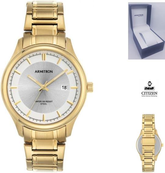 Reloj Armitron 205230 Hombre Dorado Fechador Full