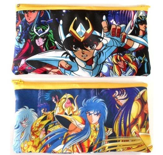 Cartuchera De Anime De Saint Seiya Modelo 1 Shun Hyoga Ikki