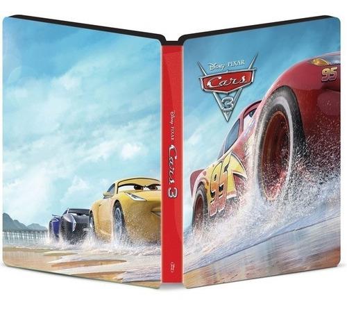 Steelbook Blu Ray 3d 2d Carros 3 Pixar Cars -3 Discos Disney