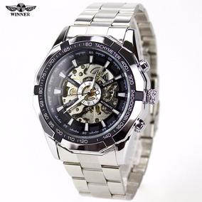 Relógio Social Masculino Luxo Automático Winner Barato