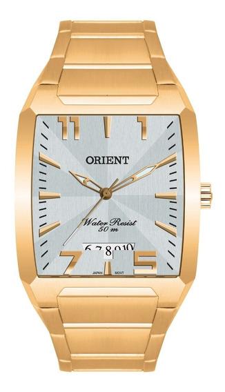 Relógio Orient Masculino Ggss1007 S2kx Dourado Quadrado