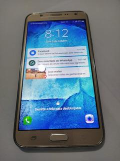 Celular Samsung J700m 16gb Dourado Usado