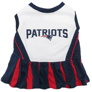 New England Patriots Nfl Cheerleader Dress For Dogs - Size S