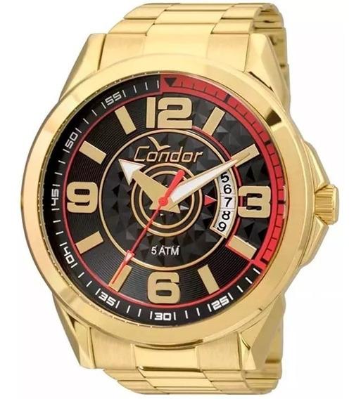 Relógio Masculino Condor Dourado Speed Casual Original Nfe