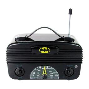 Rádio Batman Retrô Am Fm Licenciado Dc Comics Frete Grátis