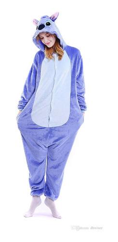 Stitch Azul Pijama Macacão Kigurumi - Pronta Entrega