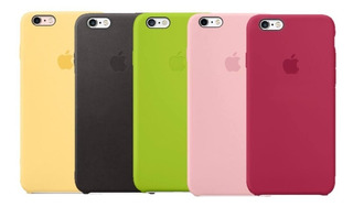 Funda Case Silicon Para iPhone 6 Plus Y 6s Plus 5 Colores